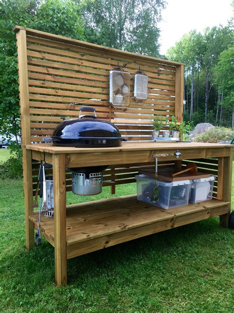 Grill Prep Table Diy Design