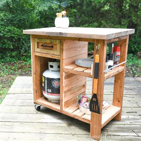 Grill Prep Table Diy With Shelf