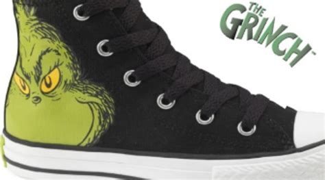 Grinch Converse Sneakers