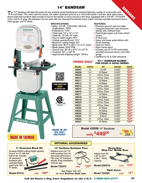 Grizzly-Woodworking-Catalogue
