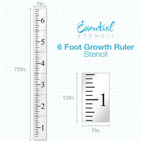 Growth Chart Ruler Stencils For Diy