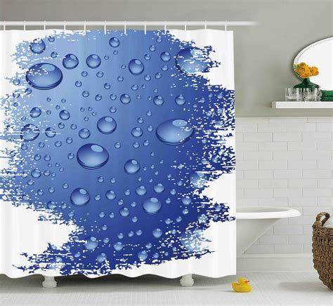 Grunge Bubble Water Rain Drop Shower Curtain