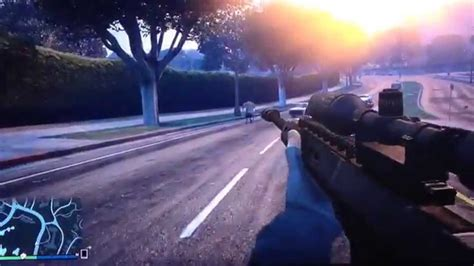 Gta 5 How To Zoom Sniper Rifle And Halo Sniper Rifle Cycle Bolt