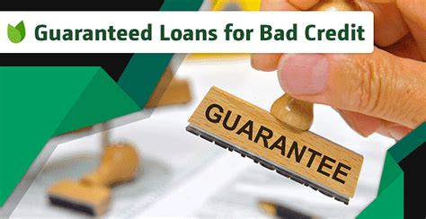 Guaranteed Poor Credit Installment Loans