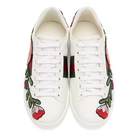 Gucci Ace Floral Embroidered Low Top Sneaker