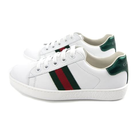 Gucci Ace Leather Sneaker Sale