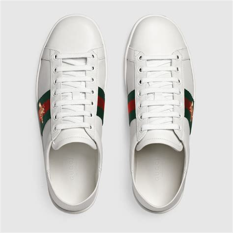 Gucci Ace Leather Sneaker Womens