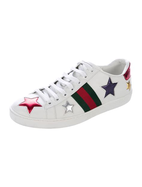 Gucci Ace Metallic Star Sneakers