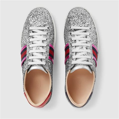 Gucci Ace Sneakers Silver