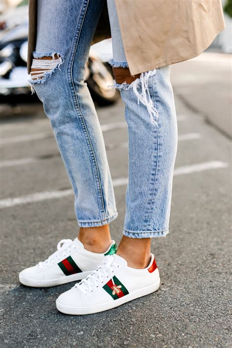 Gucci Ace Sneakers With Black Jeans