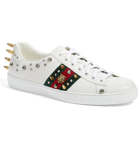 Gucci Ace Studded Sneakers Replica
