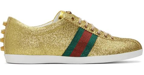 Gucci Bambi Glitter Sneakers Gold