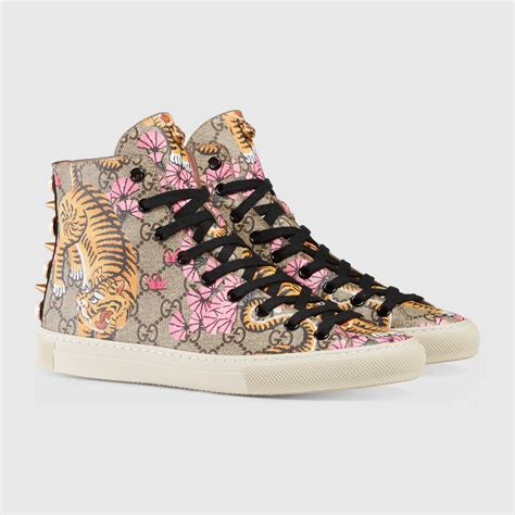 Gucci Bengal High Top Sneakers Womens