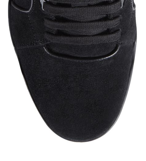 Gucci Black Suede Lace Up Sneaker
