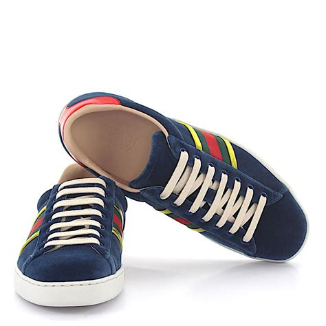Gucci Blue Velvet Sneakers