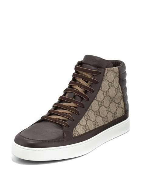 Gucci Brooklyn Gg Supreme Canvas High Top Sneakers