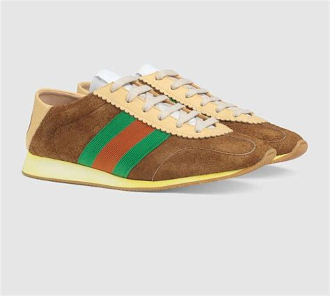 Gucci Brown Suede Sneakers Archive