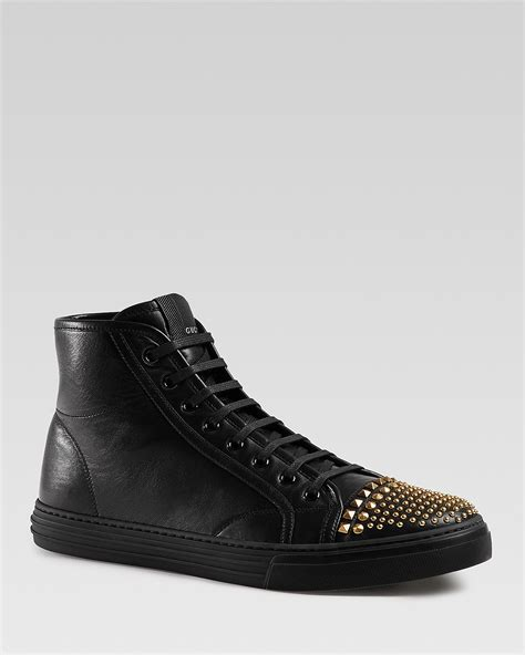 Gucci California Studded Cap High Top Sneakers
