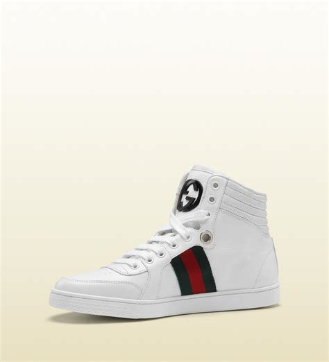 Gucci Coda High-top Sneaker With Interlocking G And Signature Web