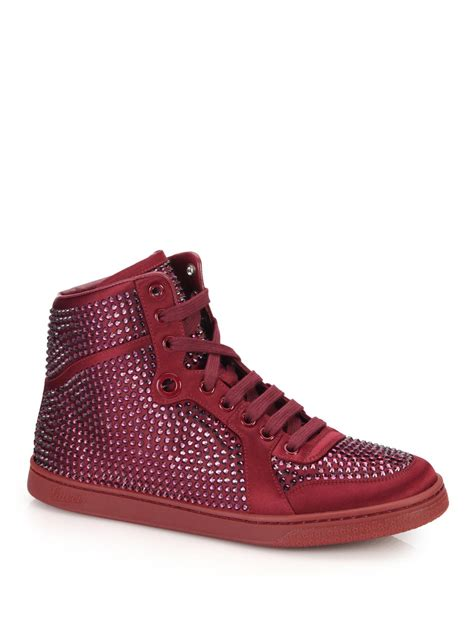Gucci Crystal Studded Sneakers