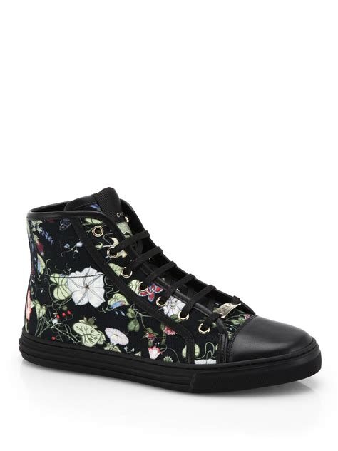 Gucci Floral High Top Sneakers