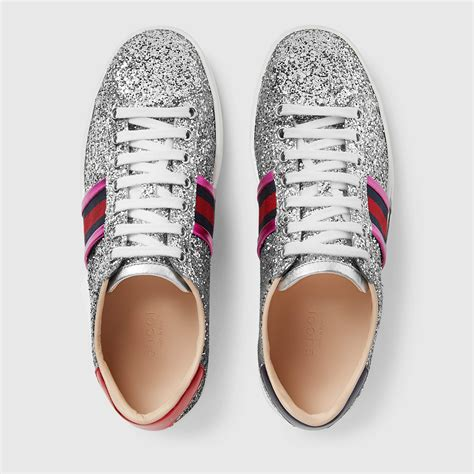 Gucci Glitter Sneakers For Women