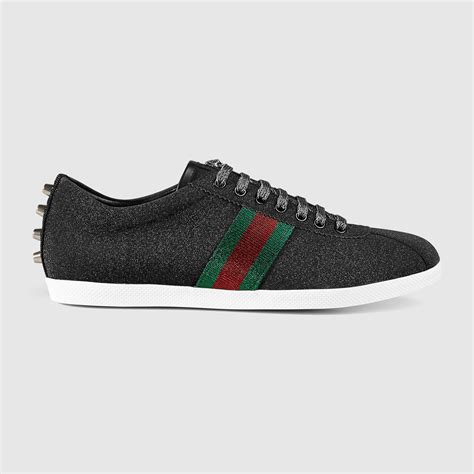 Gucci Glitter Web Sneakers Black