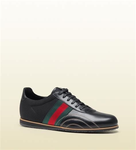 Gucci Lace Up Sneaker With Signature Web Detail