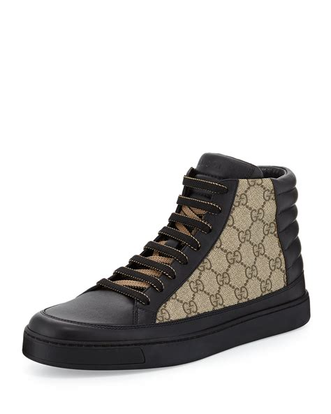 Gucci Leather High Top Sneaker Black