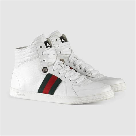Gucci Leather High Top Sneaker White