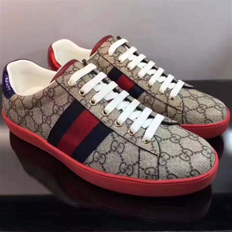 Gucci Leather Sneaker With Web