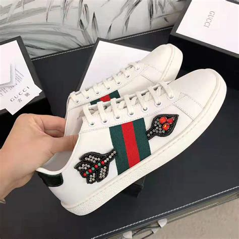 Gucci Letter Ace Embroidered Sneaker