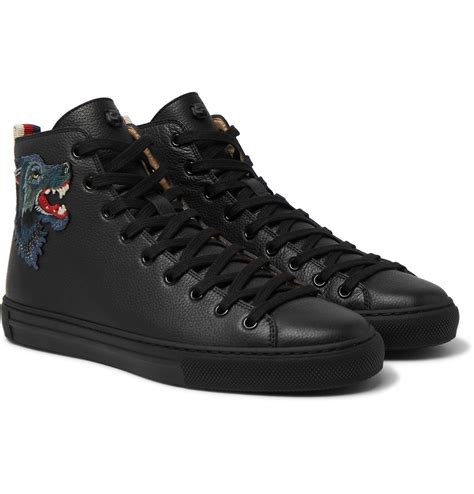 Gucci Mens Black Sneakers