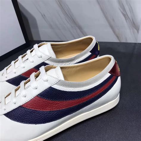 Gucci Mens Leather Sneakers