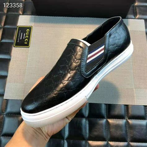 Gucci Mens Slip-on Sneaker With Signature Web Detail