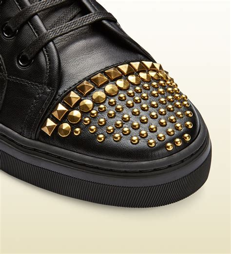 Gucci Mens Studded Sneakers