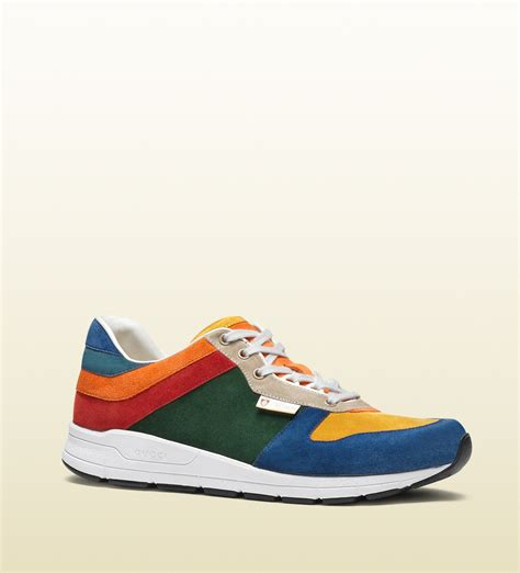 Gucci Multicolor Suede Lace-up Sneaker