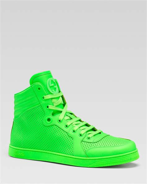Gucci Neon Sneakers Green