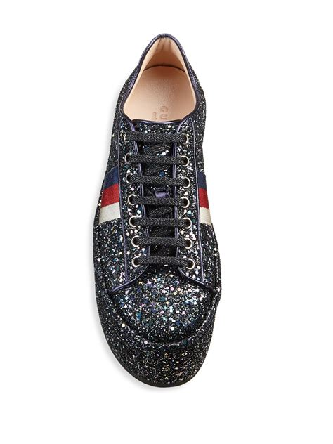 Gucci Peggy Glitter Platform Sneakers