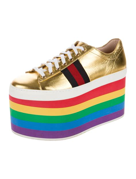 Gucci Peggy Leather Platform Sneaker