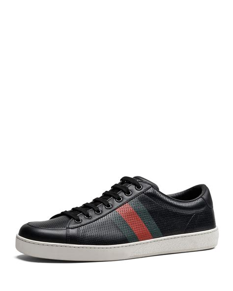 Gucci Perforated Leather Web Sneaker