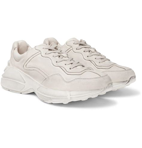 Gucci Plain White Sneakers