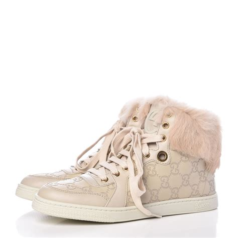 Gucci Rabbit Fur Sneakers