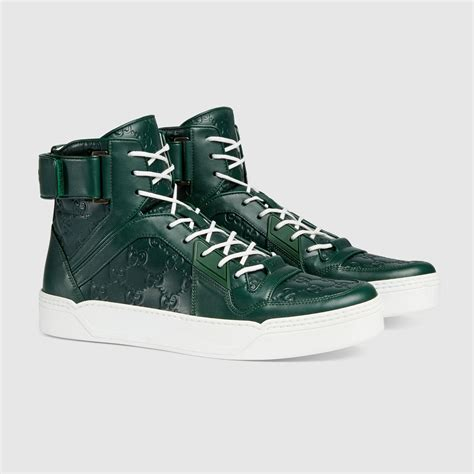 Gucci Signature Hi Top Sneakers