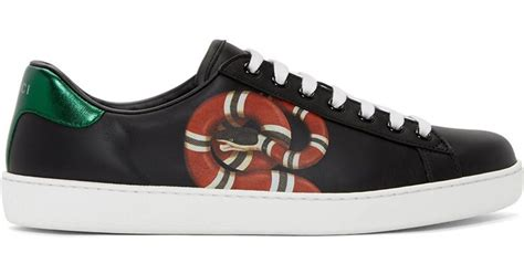 Gucci Snake Sneakers Black