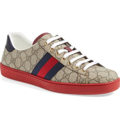 Gucci Sneakers Red Sole