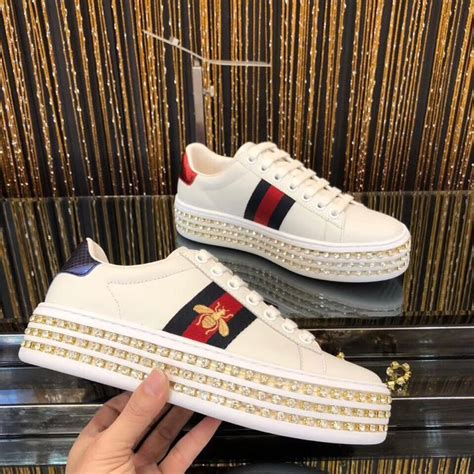 Gucci Sneakers With Diamonds