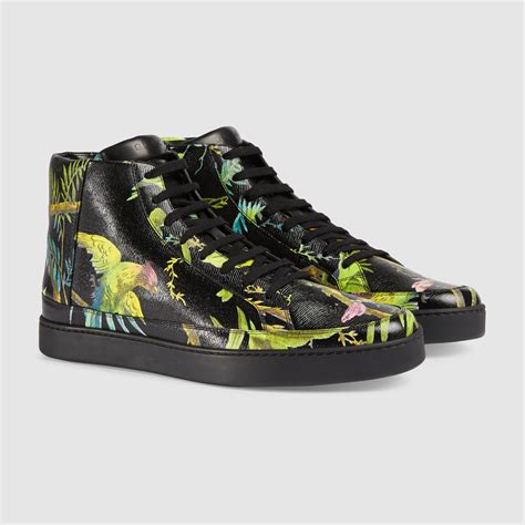Gucci Tropical Print Sneakers