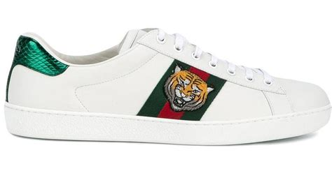 Gucci White Tiger Ace Sneakers