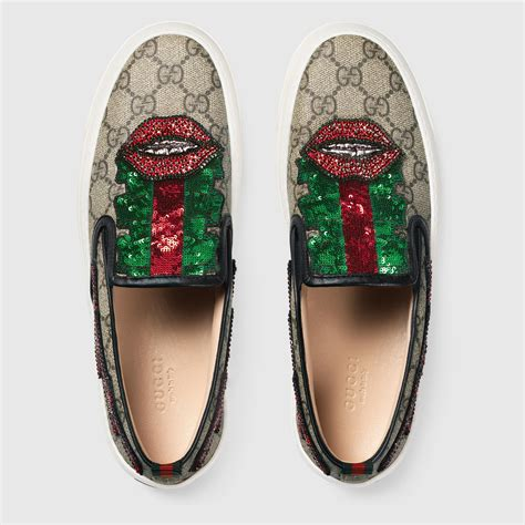 Gucci Womens Slip On Sneakers